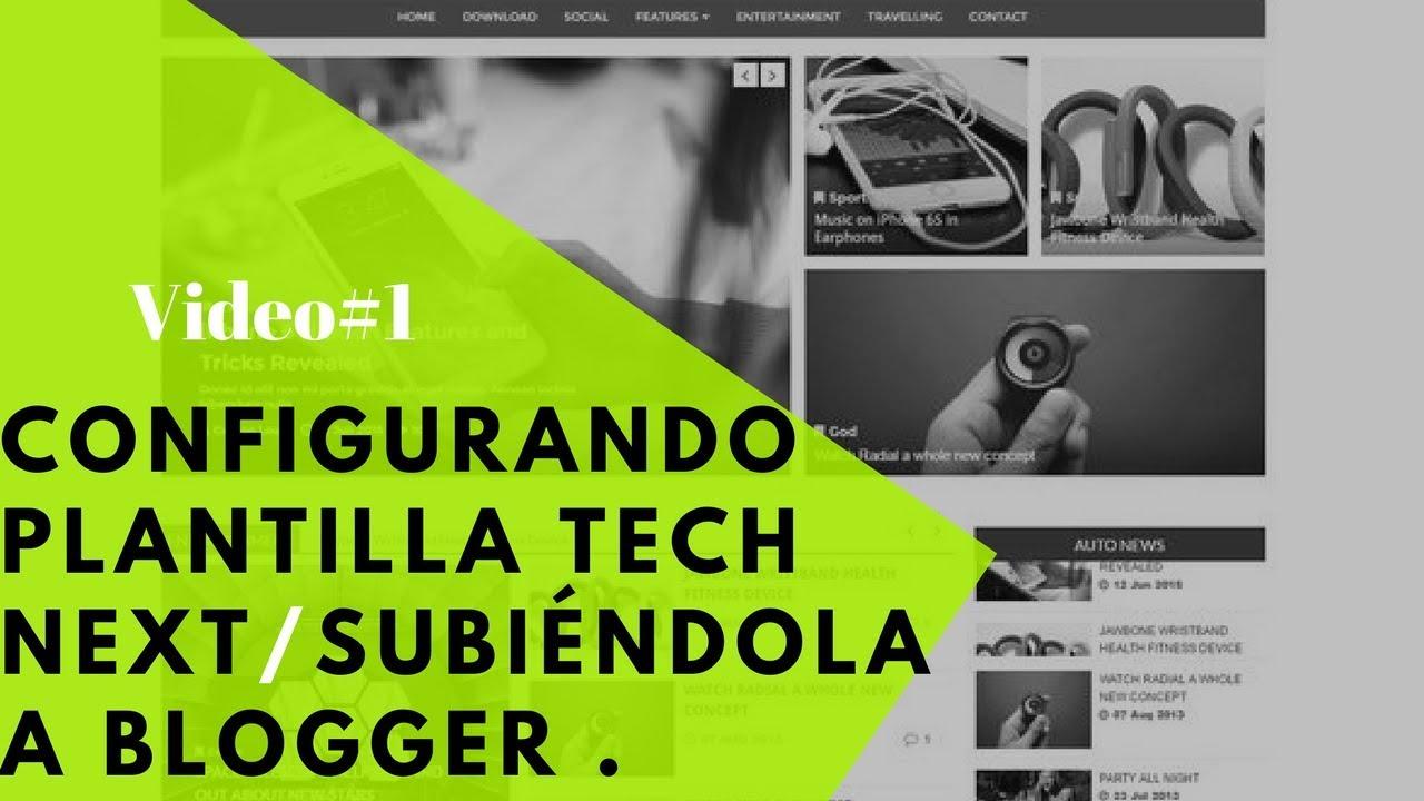 Configurando plantilla Tech Next Para Tener una Página Web ...