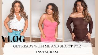 GET READY WITH ME AND SHOOT FOR INSTAGRAM!