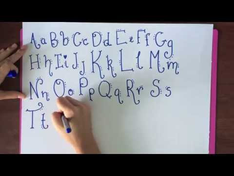 Handwriting font tutorial dots and swirls youtube