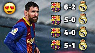 """شاهد 4 مباريات دمّر فيها برشلونة """" ريال مدريد """" 🔥 وجنون المعلقين !!"""