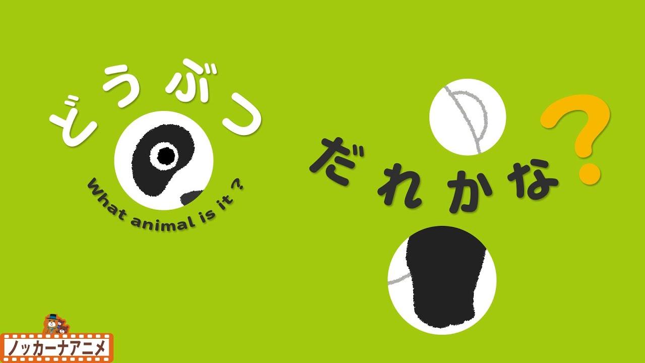 【どうぶつ だれかな】穴から見える動物はな〜んだ?知育【赤ちゃんが喜ぶ子供向けアニメ】What is the animal to see from the hole?