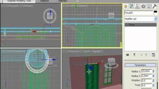Делаем подвесные кольца для занавески в 3DS Max (13/32)
