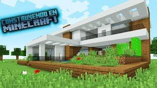 Como hacer una casa moderna para survival en minecraft OmarZcraft