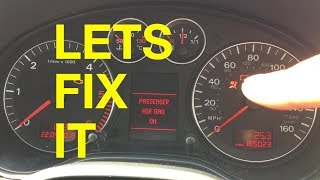 Audi A3/A4 Airbag fix. Error 01221