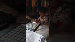Funny video - Cute baby playing music on launchpad