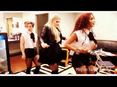 "Meghan Trainor, Kelsey Pannullo, Dani Fryz dancing ""Uptown Funk"""