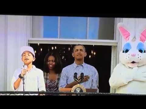 Thumbnail: CAM ANTHONY : WHITE HOUSE EASTER EGG ROLL 2014 STAR SPANGLED BANNER