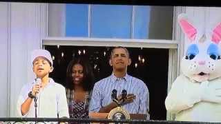 CAM ANTHONY : WHITE HOUSE EASTER EGG ROLL 2014 STAR SPANGLED BANNER