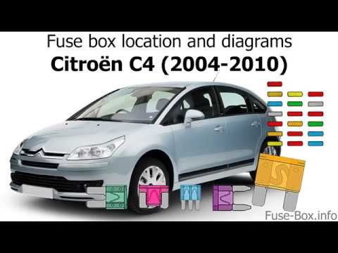 Fuse box location and diagrams: Citroen C4 (2004-2010) - YouTube | Citroen C4 Grand Picasso Fuse Box Fault |  | YouTube