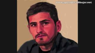 How to draw a face - Iker Casillas portrait