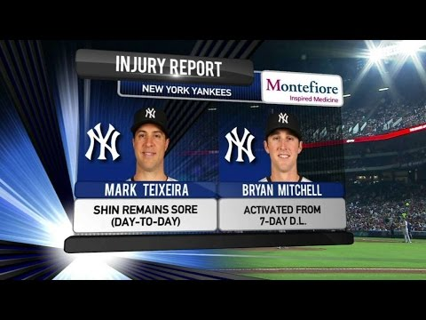 NYY@ATL: Yankees TV provides update on Tex's injury