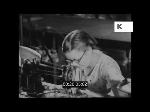 Garment Manufacturing, 1930s UK Factory, Clothing