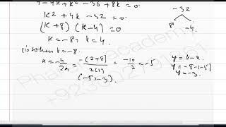 Functions f and g are defined by f(x) = k-x and g(x)= 9 / (x+2) .. IN URDU / HINDI