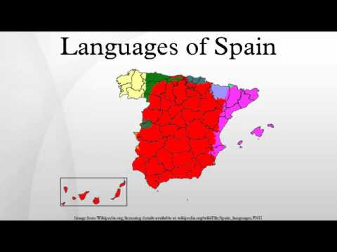 Languages In Spain Map.Languages Of Spain Youtube