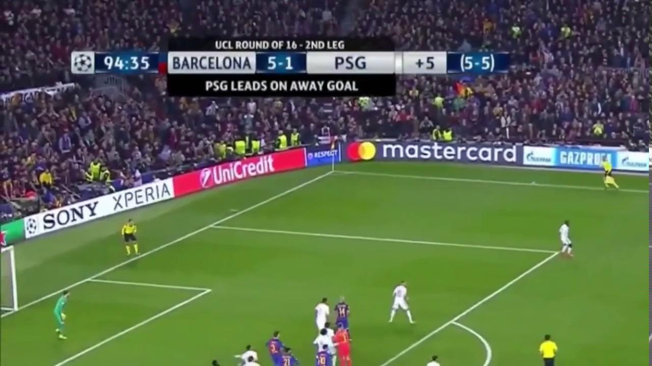 Barcelona VS PSG 3/8/17 Winning goal (6-1) - YouTube