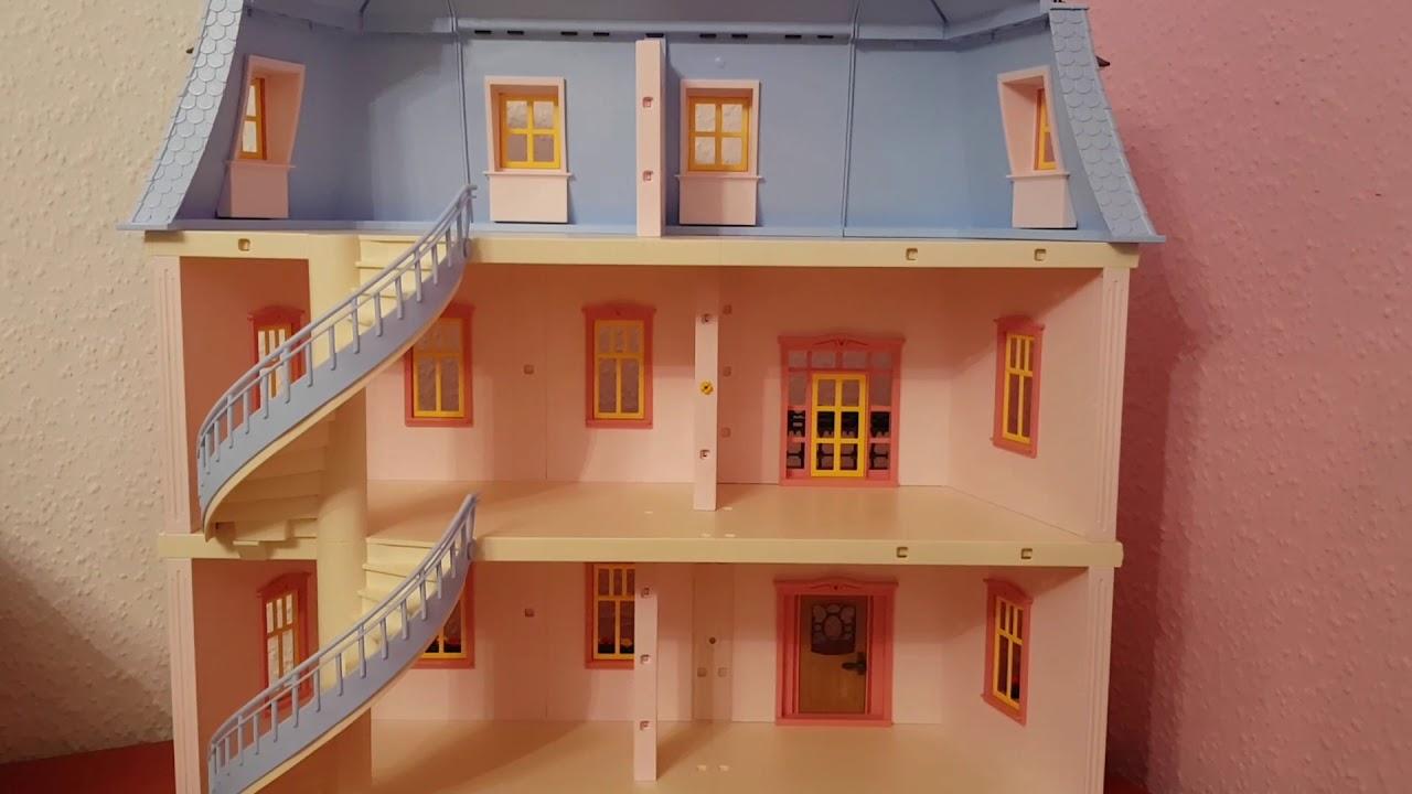 Playmobil puppenhaus 5303 haus wohnzimmer schlafzimmer for Wohnzimmer playmobil