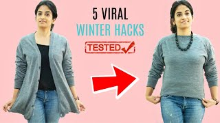 TESTED 5 VIRAL WINTER HACKS | Do they Really Work???