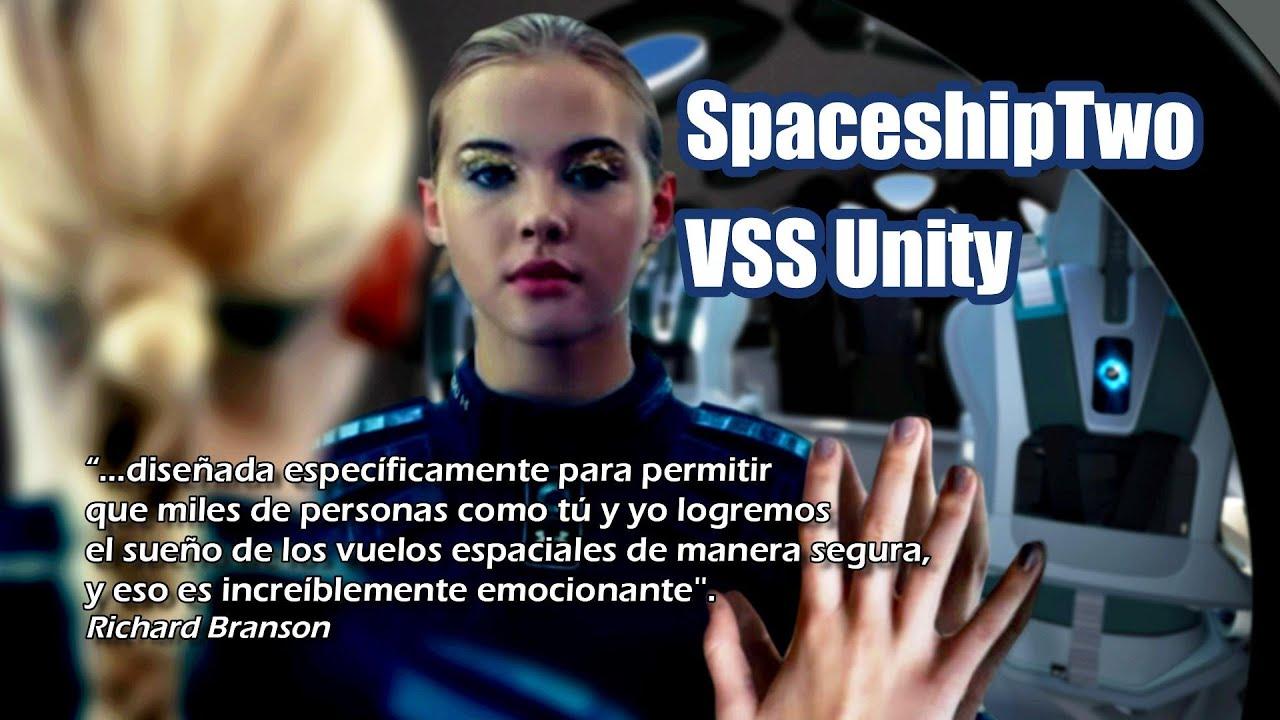 Virgin Galactic muestra el interior de la SpaceshipTwo VSS Unity 🚀 la nave para el turismo espacial