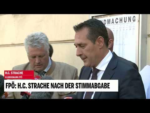 FPÖ: H.C. Strache nach der Stimmabgabe