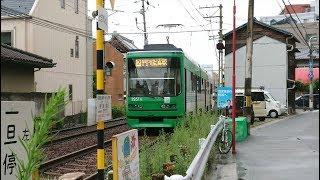 広島電鉄3950形3951号『GreenLiner』東高須〜広電西広島
