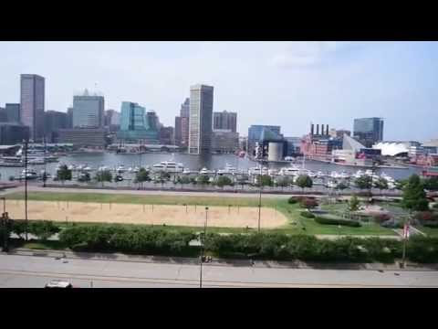 Downtown Baltimore and Federal Hill Park