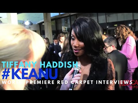 Tiffany Haddish Who Plays Hi C Interviewed At The Premiere Of Keanu KEANU KeyandPeele
