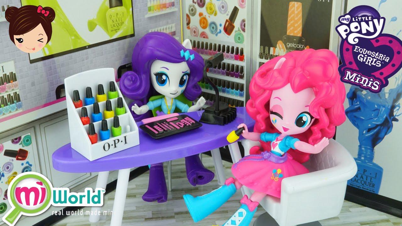 Juego de Salon de Belleza Uñas para Muñecas MLP Equestria Minis - My ...