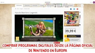 Comprar juegos y aplicaciones desde la página de Nintendo Europa