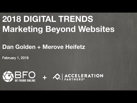 2018 Digital Marketing Trends: Marketing Beyond Websites
