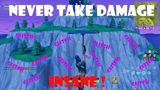 Insane Fortnite Glitch *NEVER TAKE DAMAGE* Were To Land To Get Unlimited Wins In Fortnite