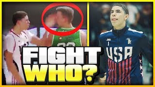 The HISTORY Between LaMelo Ball & The LITHUANIAN Player He Hit..