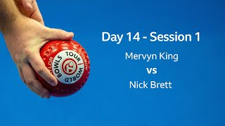 Just. 2020 World Indoor Bowls Championships: Day 14 Session 1 - Mervyn King vs NICK BRETT