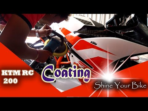 Coating of KTM RC 200 - Teflon Coating | KTM 2017- Vlog #2