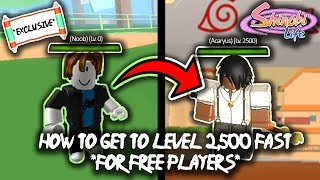 ROBLOX Shinobi Life OA - FASTEST WAY TO LEVEL UP *FREE PLAYERS*