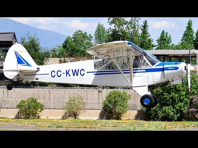 Piper PA-18 Super Cub [CC-KWC] Operating in Vitacura Municipal Airport (SCLC)