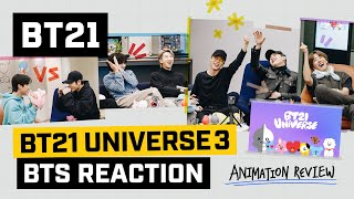 [BT21] BT21 UNIVERSE ANIMATION - BTS Reaction