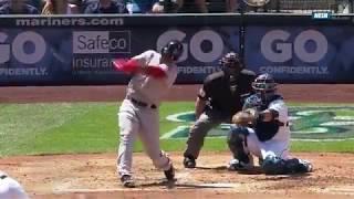 Rafael Devers: primer hit en Grandes Ligas fue un cuadrangular de 427 pies