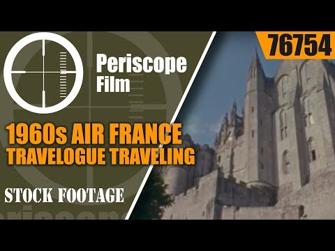 1960s AIR FRANCE TRAVELOGUE TRAVELING THROUGH FRANCE 76754
