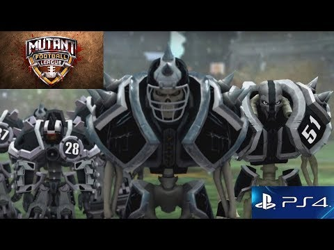 MUTANT FOOTBALL LEAGUE PS4 LAUNCH GAMEPLAY (w/commentary)