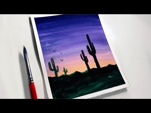 Sunset Watercolor Painting Ideas