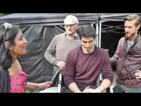 On set with the Cast of 'Legends Of Tomorrow' - Brandon Routh! Arthur Darvill! Victor Garber!