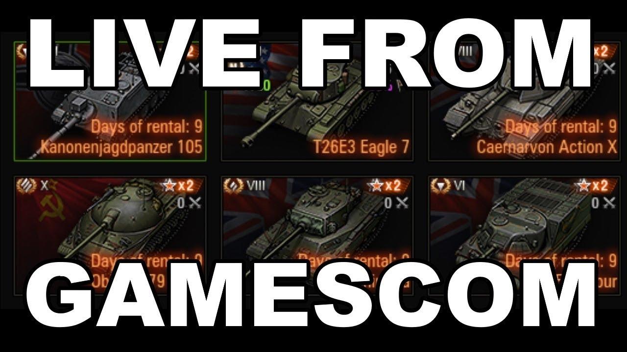 QuickyBaby at Gamescom, Unique Tanks, Bonus Codes and more!