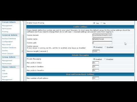 Create a bulletin board forum using PHPBB