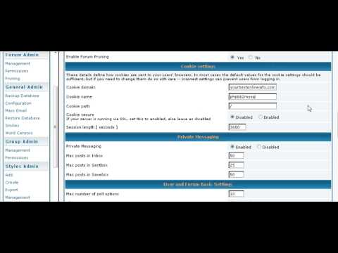 Create A Bulletin Board Forum Using PHPBB