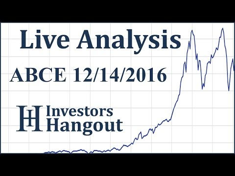 ABCE Stock Live Analysis 12-14-2016