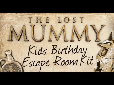Kids Escape Room Kit The Lost Mummy   Etsy