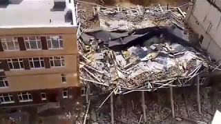 Обрушение крыши в новой школе Мурино. Девяткино