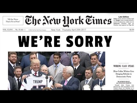 New York Times Apologizes for Fake News