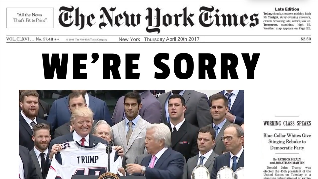 New York Times Apologizes for Fake News - YouTube