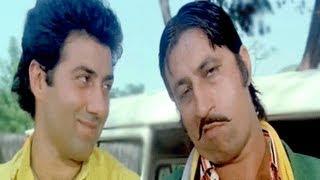 Sunny Deol, Shakti Kapoor, Danny, Paap Ki Duniya - Scene 7/16